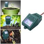 Longruner Testeurs de Sol,Soil Moisture Sensor Meter Tester, Soil Water Monitor, Testeur Humidité Sol pour Jardin, Ferme, Les Usines de Pelouse,Intérieur et Extérieur (Aucune Batterie) LKP02