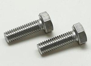 Lot de 10 vis à tête hexagonale DIN 933 – ISO 4017 en acier inoxydable A4 – Aisi 316 (acier inoxydable V4A, M6 x 30 mm)