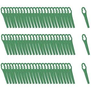 Lot de 100 lames de tondeuse à gazon en plastique pour FRT18A FRT18A1 Kunst 46155 FRT20A1 Accessoires 12 x 7 mm (vert)