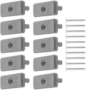 Lot de 100 pinces de terrasse en plastique et acier inoxydable – Convient pour plaques WPC/BPC – 100 pièces – Avec vis (noir)