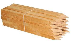 Lot de 25 piquets en bois dur pointus et carrés – Pour marquage, signalisation ou délimitation – 30/40/50/60 cm – Bords : 25 x 25 mm (60cm)
