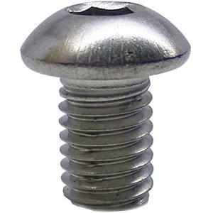 Lot de 50 vis à tête bombée M6 x 10/10 avec six pans creux ISO 7380 en acier inoxydable A2