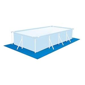 Match de Piscine Rectangle, Piscine Gonflable en Tissu de Sol imperméable, portablement Fluide flathable au-Dessus du Sol de Piscine, (250 340 cm)