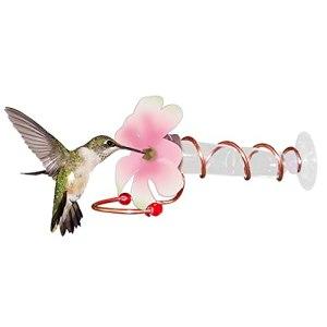 Mengmengda Mangeoire à oiseaux à suspendre, facile à nettoyer, pour extérieur, patio, jardin, cour avec crochet en métal