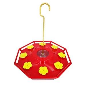 Mengmengda Mangeoire à oiseaux en plastique à suspendre avec 8 ports d'alimentation