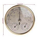 NFRADFM Baromètre, thermomètre, hygromètre, baromètre mural 3 en 1, station météo, thermomètre hygromètre