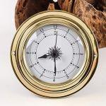 NFRADFM Baromètre, thermomètre, hygromètre, combinaison de 4 baromètres, coque en cuivre, station météo, baromètre extérieur