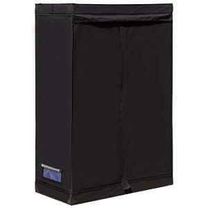 Outsunny Chambre de Culture hydroponique Tente de Culture Grow Box 1,2L x 0,6l x 1,8H m Polyester Mylar Noir