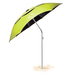 Parasol Inclinable avec Protection UV Hauteur Toile Polyester Parasol Pliable pour Extérieur Inclus Housse de Protection 180cm