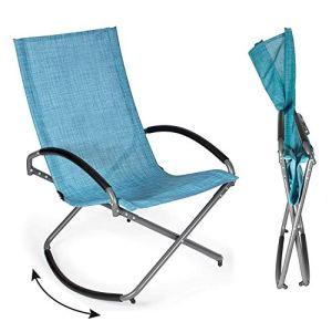 Park Alley PA-6880 Chaise à bascule de jardin, Bleu, 1
