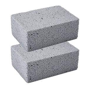 Pierre de Nettoyage pour Barbecue,2Pcs Brique de nettoyage de gril,bloc de gril pour le nettoyage des grilles ou des grils Pierres de détartrage réutilisables Nettoyant de brique en pierre