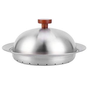 Plateau de cuisson à la vapeur en plaque, plaque de cuisson à la vapeur en acier inoxydable 304 plateau de panier à vapeur épaissi multifonctionnel avec couvercle