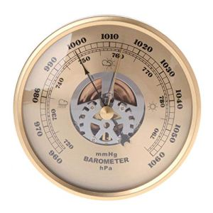 POMNEFE Wall Mounted Barometer Perspective Round Dial Air Weather StationHousehold Thermometer Atmospheric Pressure