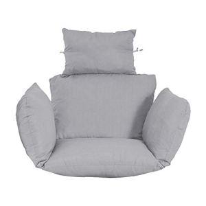 Premium confortable accrocher chaise hamac coussin coussins de coussin de terrasse assises meubles arrière balcon balançoire basket coussins de siège de siège détachable tapis de jardin (pas de hamac)