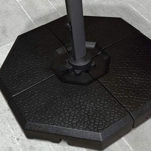 PURPLE LEAF 4 pièces de base de parasol déporté 100 kg Noir