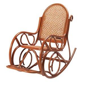 Rocking Chair Evissa en rotin