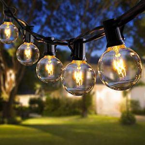 ROVLAK Exterieur Guirlande Lumineuse 11m G40 Étanche Ampoule Guirlande Noël 30 Ampoules+5 Ampoules Rechange Guirlande Jardin Lumière Blanche Chaude pour interieur Terrasse Cour Fête Mariage