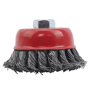 Schwenly Tête de brosse métallique pour meuleuse d'angle coupe-herbe bol coupe brosse outil de nettoyage,Fil torsadé,3 pouces