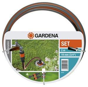Set de Connexion Grand Débit de Gardena: Kit Complet pour le Raccordement d'Une Tuyauterie et d'Un Système de Gicleurs à l'Alimentation en Eau, avec Robinet, Raccords de Tuyau et Flexible (2713-20)