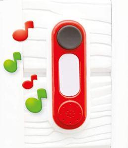 Smoby – Sonnette – Accessoire de Maison Smoby – Electronique – Rouge – 810908WEB