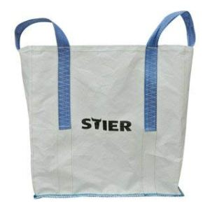 STIER Sac de transport BIG BAG 60x60x60cm, 1000kg, tissu synthétique, 4 sangles, sac de chantier, sac transportation