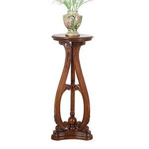 TongN American Solid Wood Salon Flower Stand Table d'intérieur Décoration Pot Pot De Style Europe-Style Simple Single Flower Bureau