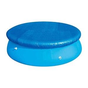 WingSin Bâche de piscine 183 cm étanche ronde avec attaches de corde, anti-poussière facile à installer pour piscines gonflables, bleu