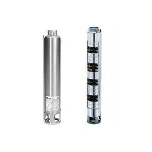 Winner 4N10-32 Pompe centrifuge verticale multicellulaire pour extraction d'eau de puits avec chemise extérieure de 5,5 kW et 7,5 CV Gris (référence : 3571100032)