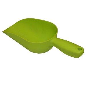 Xclou Pelle à terreau en plastique de couleur verte – Pelle à main pour le jardinage 32,5 cm – Petite pelle à jardin solide