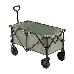 Yongqin Yongqin Chariot de pique-nique pliable de jardin portable Grande capacité Chariot utilitaire pliable Chariot de plage Chariot de plein air Brouette pour camping jardin et plage
