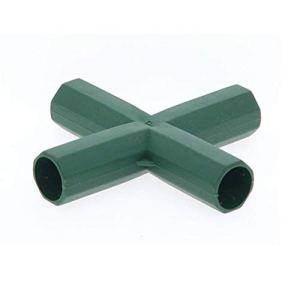 ZCXR 1 raccord de 16 mm en PVC robuste pour serre, cadre de meubles – Connecteur pour treillis de raisin, protection solaire, abri de jardin