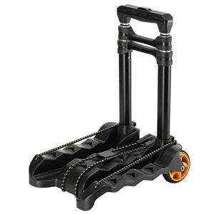 ZGQA-GQA Quatre roues panier bagages lourds, panier pliable portable, chariot en alliage d'aluminium, main télescopique pliant panierPanier (jusqu'à 150 lb)