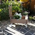 ZYFWBDZ 2021 Nouveau planteur de Chien, planteurs de Chien en Bois, Maison cabane Jardin Ornement Plante Pot planteur Chien Animal décoration extérieur intérieur,D