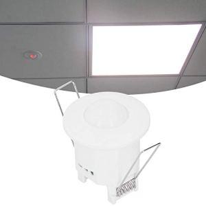 01 Interrupteur de lumière à capteur, Interrupteur de Commande de lumière Pratique Infrarouge à Haute sensibilité à détection omnidirectionnelle, pour Bureau à Domicile