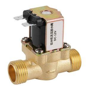 12V BSPP G1/2 Électrovanne, vanne magnétique en laiton, 2 voies normalement fermées, anti-corrosion, résistante à l'humidité et aux températures élevées, pour climatisation, industrie de l'eau