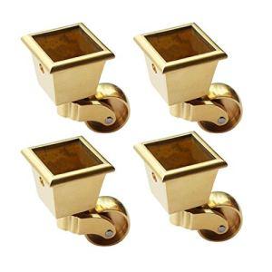4 x roulettes Pivotantes en Métal, roulettes pour Meubleslaiton, Roulette de Meuble Carrée, Charge 200kg, pour Canapé de Table Basse Piano