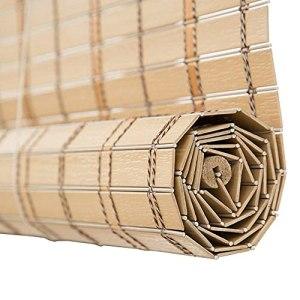 Accueil Équipement Imitation Bambou Store Rouleau d'ombrage étanche Store Prévention des incendies Ombrage Anti-moisissure Store extérieur Plusieurs tailles personnalisables (Couleur: A Taille: 150
