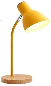 Ajustable LED Lampe de bureau lampe de bureau recharge avec USB Chargement de la batterie de port, style flexible (Color : Yellow)