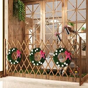 ARCH WRJ@ Grand treillis de jardin en bois pour plantes grimpantes Support mural treillis en bois Clôture de jardin Créations écran avec mobile pour jardiniers et propriétaires d'animaux domestiques