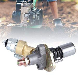 Atyhao Pompe d'injection de Carburant avec électrovanne Moteur Diesel refroidi par air Accessoire de cultivateur Miniature Accessoires de Tondeuse à Gazon(#1)