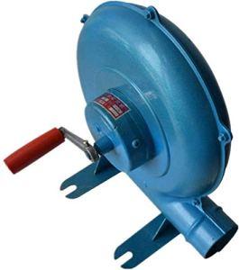 Auoeer Souffleur de Forge Forge de manivelle à la Main, BBQ Fan Grillet Briquet Brique BBQ Briquets BBQ Fan-Bleu (Taille : 350w)