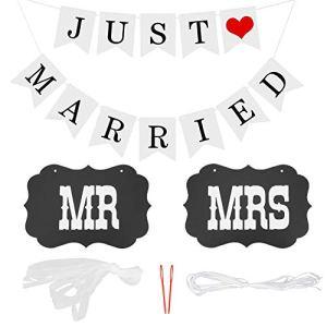 Bannière de mariage en forme de cœur – Décoration de mariage romantique