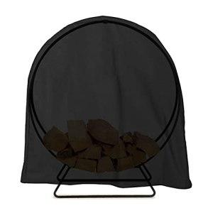 couverture anti-poussière de grille de bûches, couverture de grille de bois d'eau ronde couverture de rack de stockage de bois de bois de bois de chauffage