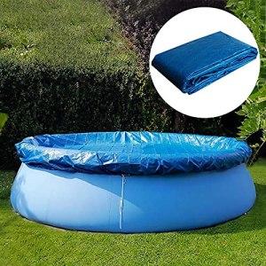 Couverture de piscine ronde, couverture de piscine ronde facile à installer, housse de protection contre la poussière imperméable à la pluie et à la pluie, couverture de protection de piscines (6 pi)