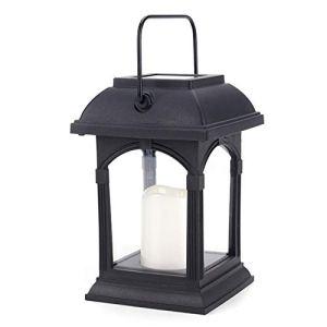 COZHYESS Lanternes solaires de jardin à LED étanches – Éclairage de paysage pour patio – Blanc chaud