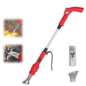 Désherbeur Thermique électrique- 2000 Watt,2 Niveaux De Température, Jusqu'à 650°C, 2 Buses- Brûleur électrique De Mauvaises Herbes Allume Charbon Désherbant Brûleur(Rouge)