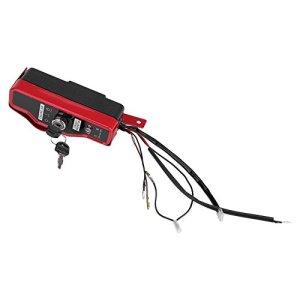 DFKEA Boîtier de commutateur d'allumage-boîtier de commutateur d'allumage électrique avec 2 clés pour Moteur à Essence GX390 13HP GX340 11HP 168F GX160
