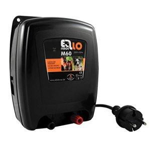 Dispositif de clôture électrique Ellofence M60 – Extrêmement silencieux – Pour garder les chevaux et les animaux domestiques – 230V