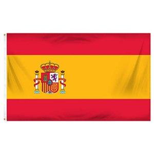 Drapeau de l'Espagne en polyester avec œillets en laiton 90 x 150cm EUROS World Cup Festival de musique