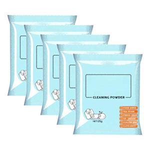 DUOCACL 5 Sacs de détachant de Poudre à Laver éclaircit Le Tissu de Nettoyage en Profondeur instantané en Poudre de Nettoyage Tout Usage